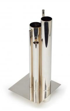 Orgue Graduated Tube Silver Plate Vase by Gio Ponti for Christofle - 774773