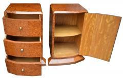 Original 1930s Art Deco Heavily Figured Walnut Bedside Cabinets - 1137182