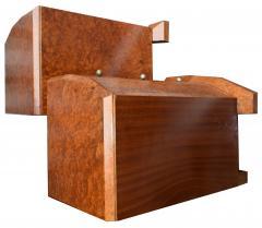 Original 1930s Art Deco Heavily Figured Walnut Bedside Cabinets - 1137184
