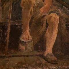 Original Antique Oil Painting Portrait of a Danish Fisherman - 1064222