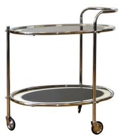 Original Art Deco Chrome and Mirror Modernist Hostess Trolley Circa 1930 - 1028100
