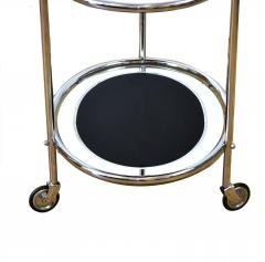 Original Art Deco Chrome and Mirror Modernist Hostess Trolley Circa 1930 - 1028104