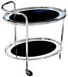 Original Art Deco Chrome and Mirror Modernist Hostess Trolley Circa 1930 - 1028107