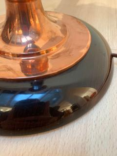 Original Art Deco Mazda Table Lamp Copper and Rosewood France circa 1930 - 1248402