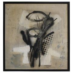 Original Midcentury Abstract Painting by Vincent Cavallaro - 1078279