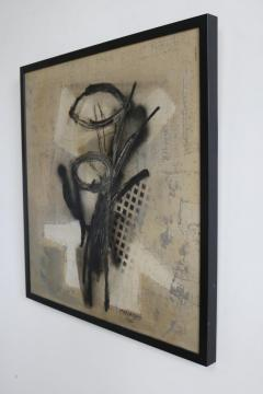 Original Midcentury Abstract Painting by Vincent Cavallaro - 1078281