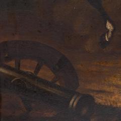Original Oil Painting Battle Scene of Polish Officer on Horseback - 1072426