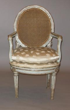 Original Painted and Mecca Silver Gilt Armchair - 272554