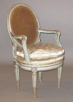 Original Painted and Mecca Silver Gilt Armchair - 272555