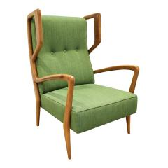 Orlando Orlandi Orlando Orlandi Attributed Pair of High Back Lounge Chairs 1950s - 1164003