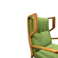 Orlando Orlandi Orlando Orlandi Attributed Pair of High Back Lounge Chairs 1950s - 1164005