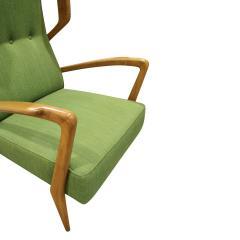 Orlando Orlandi Orlando Orlandi Attributed Pair of High Back Lounge Chairs 1950s - 1164007