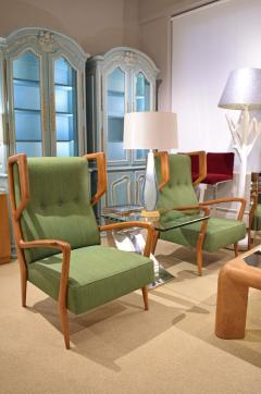 Orlando Orlandi Orlando Orlandi Attributed Pair of High Back Lounge Chairs 1950s - 1164008