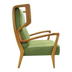 Orlando Orlandi Orlando Orlandi Attributed Pair of High Back Lounge Chairs 1950s - 1164010