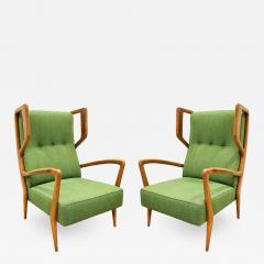 Orlando Orlandi Orlando Orlandi Attributed Pair of High Back Lounge Chairs 1950s - 1165430