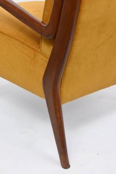 Orlando Orlandi Rare Pair of Italian Modern Walnut Armchairs Orlando Orlandi - 409434