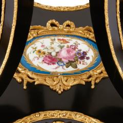 Ormolu mounted S vres porcelain and ebonised wood side table - 1516320