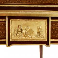 Ormolu mounted marquetry roll top desk attributed to Bernard - 1569775