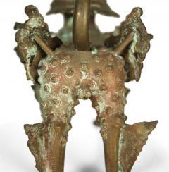 Ornate Standing Bronze Fu Dog Sculpture - 775527
