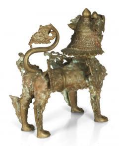 Ornate Standing Bronze Fu Dog Sculpture - 775541