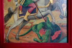 Orthodox Icon St George and the Dragon - 1986035