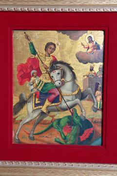 Orthodox Icon St George and the Dragon - 1986043