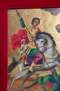 Orthodox Icon St George and the Dragon - 1986044