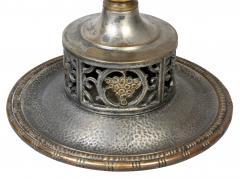 Oscar Bach Silvered Bronze Table Lamp - 1736345