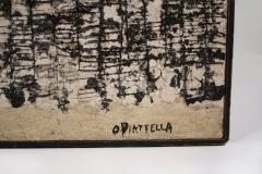 Oscar Piatella Oscar Piatella Abstract Oil Painting on Canvas La Lunga Strada 1958 - 2108390
