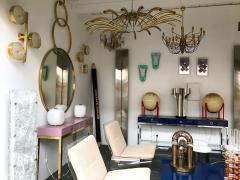 Oscar Torlasco Brass Ceiling Chandelier model 391 by Oscar Torlasco for Lumi Italy 1960s - 839119