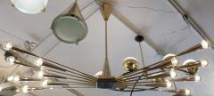 Oscar Torlasco Gold Plated Lumi Chandelier Re Edited for Gaspare Asaro - 149862