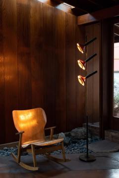 Oscar Torlasco Monumental Oscar Torlasco 3 Cone Floor Lamp for Lumi circa 1958 - 1205199