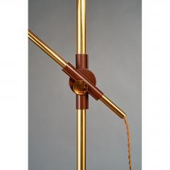 Oscar Torlasco Oscar Torlasco Brass and Enameled Metal Floor Lamp Italy 1950s - 526885