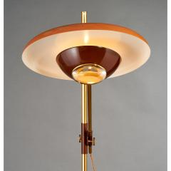Oscar Torlasco Oscar Torlasco Brass and Enameled Metal Floor Lamp Italy 1950s - 526886