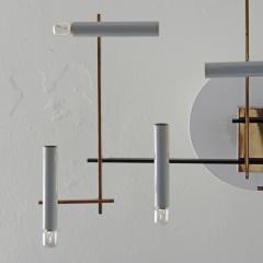 Oscar Torlasco Oscar Torlasco Geometric Ceiling Lamp for Lumi Italy 1950s - 1556437