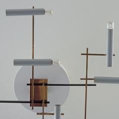 Oscar Torlasco Oscar Torlasco Geometric Ceiling Lamp for Lumi Italy 1950s - 1556439