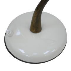 Oscar Torlasco Oscar Torlasco Mid Century Modern White Steel And Brass Table Lamp Italy 50s - 865002