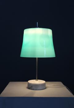 Oscar Torlasco Oscar Torlasco MidCentury Table Lamps in cased glass and marble aluminum 1960s - 1114842