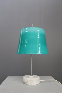 Oscar Torlasco Oscar Torlasco MidCentury Table Lamps in cased glass and marble aluminum 1960s - 1114844