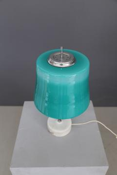 Oscar Torlasco Oscar Torlasco MidCentury Table Lamps in cased glass and marble aluminum 1960s - 1114847