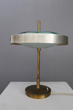 Oscar Torlasco Oscar Torlasco MidCentury Table lamp in brass and cased glass by LUMI 1950s - 1114896