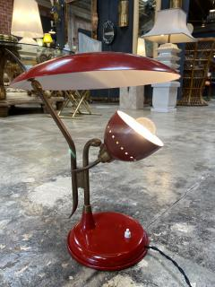 Oscar Torlasco Oscar Torlasco Red Lacquered Table Lamp by Lumi Italy 1950s - 1452593