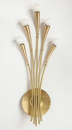 Oscar Torlasco Oscar Torlasco Satin Brass Sconces - 985492