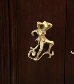 Osvaldo Borsani 2 Door Cabinet by Osvaldo Borsani Lucio Fontana for ABV - 1666977