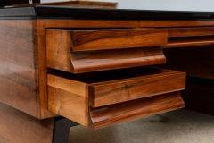 Osvaldo Borsani Fine Italian Modern Walnut Executive Desk - 106318