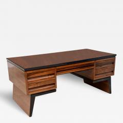 Osvaldo Borsani Fine Italian Modern Walnut Executive Desk - 109721