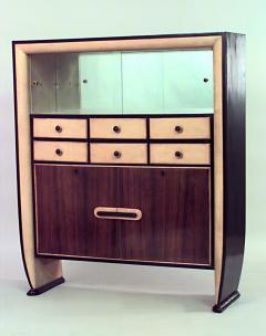 Osvaldo Borsani Italian 1940s Rosewood and Parchment Cabinet - 465428