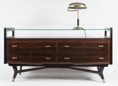 Osvaldo Borsani Italian Mid Century Sideboard Console Cabinet Osvaldo Borsani - 1569666
