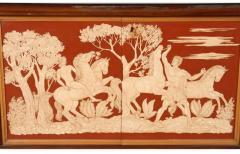 Osvaldo Borsani MAGNIFICIENT ITALIAN ART DECO DECORATED MAHOGANY SIDEBOARD - 1990515