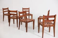 Osvaldo Borsani Osvaldo Borsani Chairs in Wood and Letaher rare - 1977670